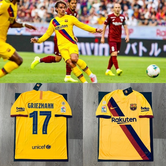 sports shoes 71a47 9cdf6 Griezmann #17 nike soccer jersey Barcelona away NWT